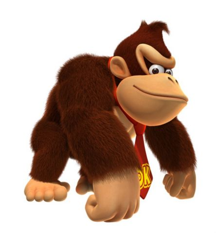 Donkey Kong - Donkey Kong; main protagonist of the Donkey Kong series. He is the carefree & lazy, yet trustworthy hero of Donkey Kong Island. a descendant of the original Donkey Kong, & successor after he later retired after his numerous defeats at hands of Mario. The games originally described DK as Cranky's grandson. 64 changed this to being his son, then it has switched back & forth, making their specific relationship uncertain.