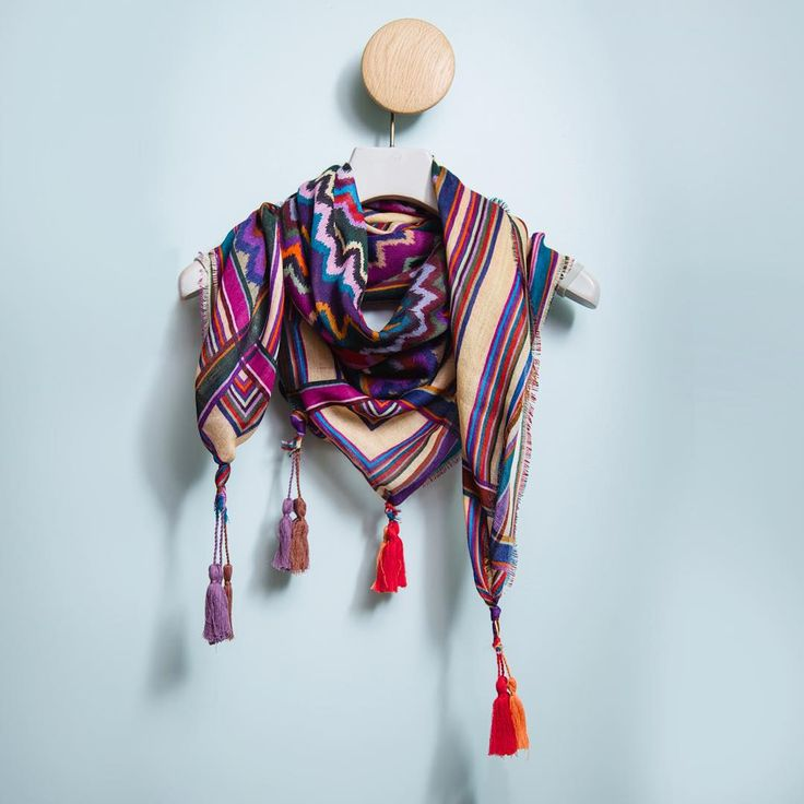 Our colourful scarf is key for Autumn layering.  #maxandco #fashion #style #accessories #fall #colours #dressingroom #instagood #instalike