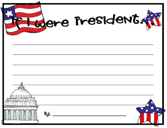 best kids presidents day activities images if i were president writing bie