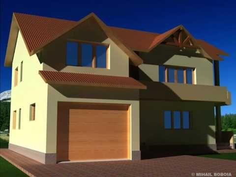 Casa IB 33 Proiect casa cu mansarda Bucuresti