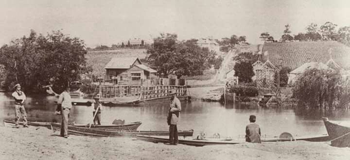 Punt Rd in 1856, when there was less road and more punts.