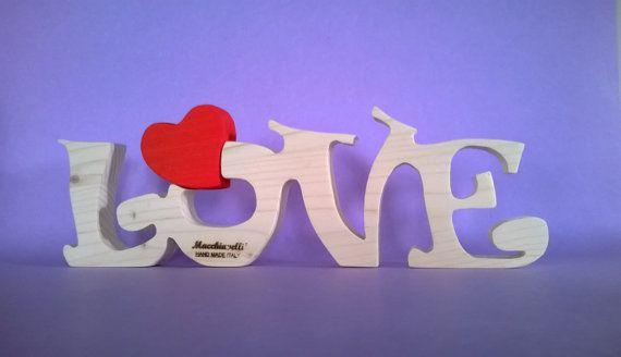 Cuore in legno scritta love puzzle in legno puzzle cuore innamorati san valentino regalo coppia innamorati (Cod. PUZ007)