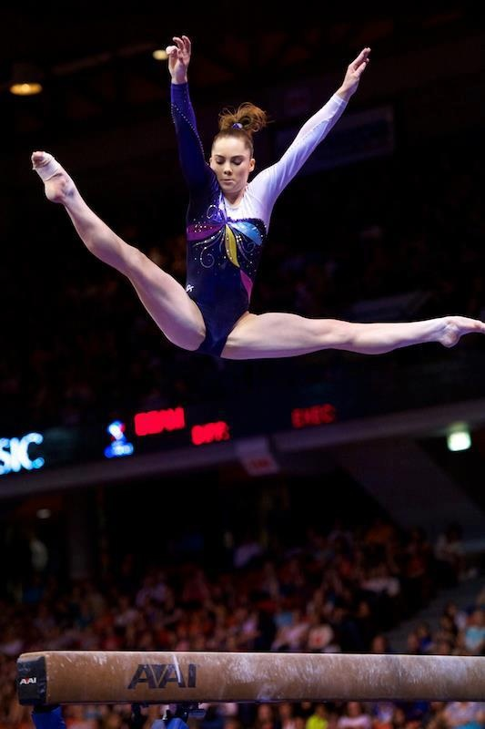 mckayla maroney - gymnastics gymnast balance beam jump splits  #KyFun moved from McKayla Maroney board http://www.pinterest.com/kythoni/mckayla-maroney/ m.52.4