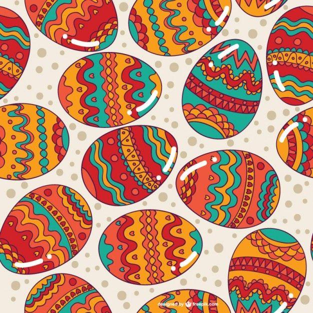 Easter eggs fundo transparente Vetor grátis