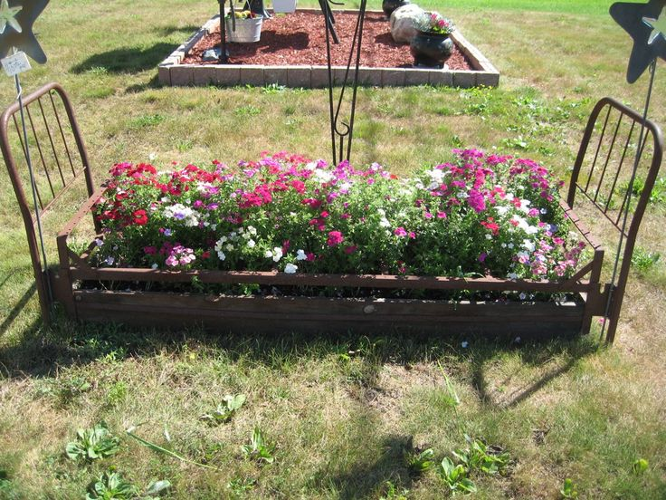 42 best in our garden images on pinterest alpena for Front yard flower beds