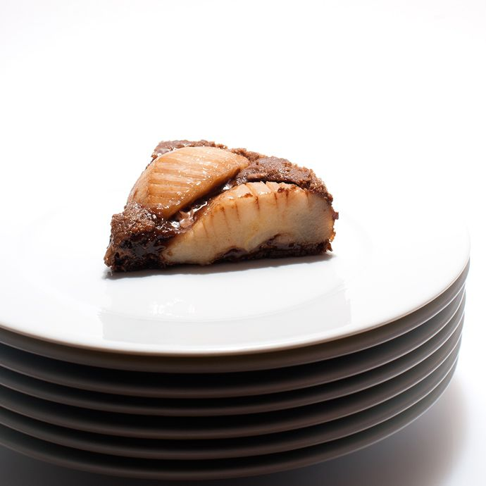 tarte de chocolate e pera