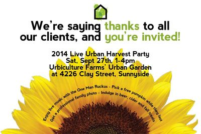 Join us for a Harvest Celebration! September 27 from 1-4 pm.