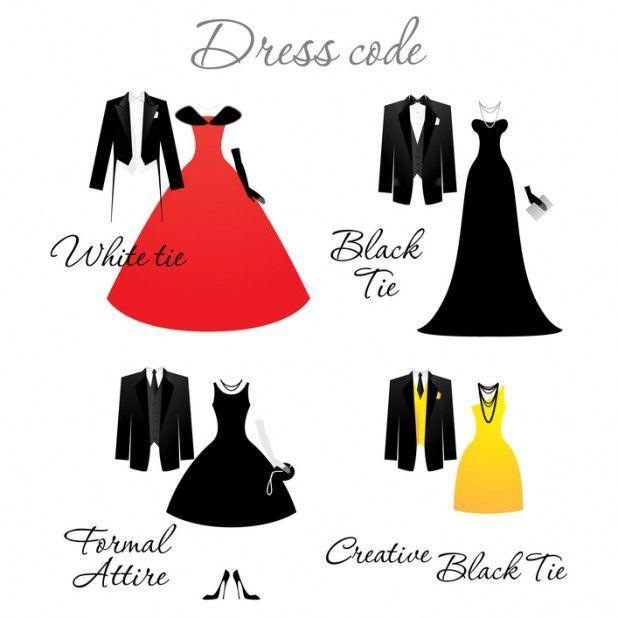 Black Tie Wedding Invitation Wording: Dress Code On Wedding Invitations