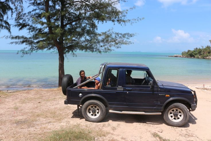 The jeep we rented to get around the island