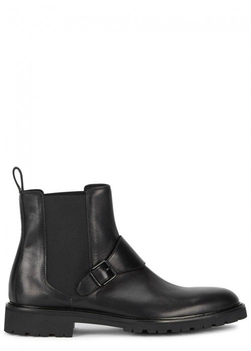 BELSTAFF PLAISTOW BLACK LEATHER CHELSEA BOOTS. #belstaff #shoes #