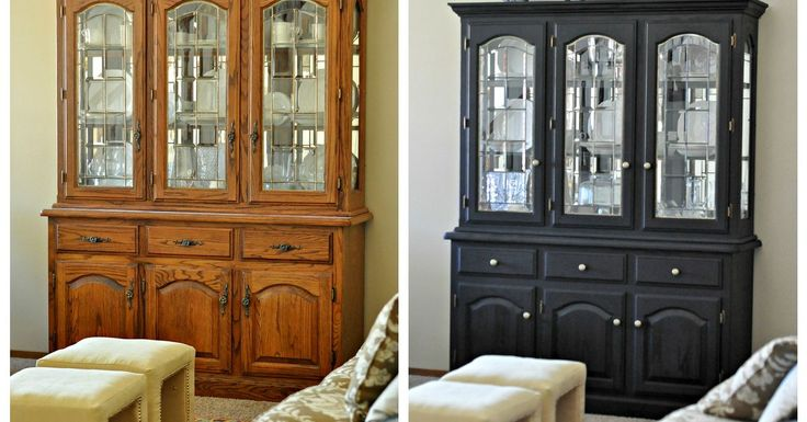 Did you know you can achieve a non chippy look with milk paint? I painted my 80's oak china cabinet and turned it into one of my most favorite pieces of furnitu…