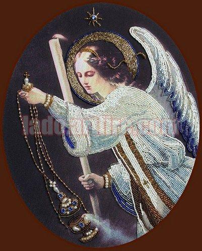 St. Nicholas Icon with Swarovski crystals bead embroidery DIY kit