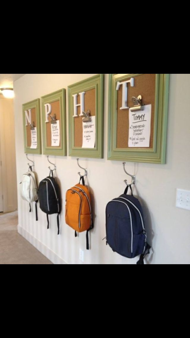 Mud Room Organization for kids
