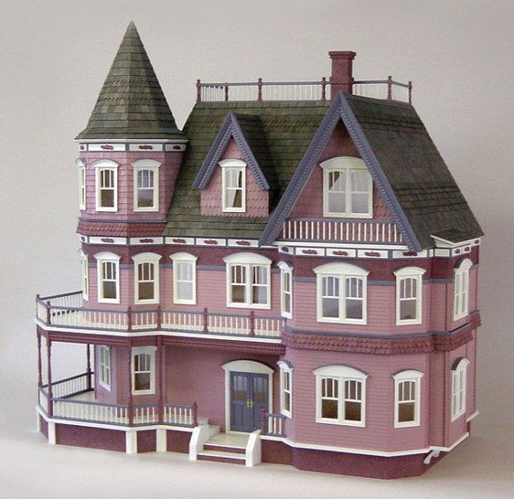 The Queen Anne Victorian dollhouse kit is THEE gift of ANY season - in your hands, this kit will transform into a priceless family heirloom.