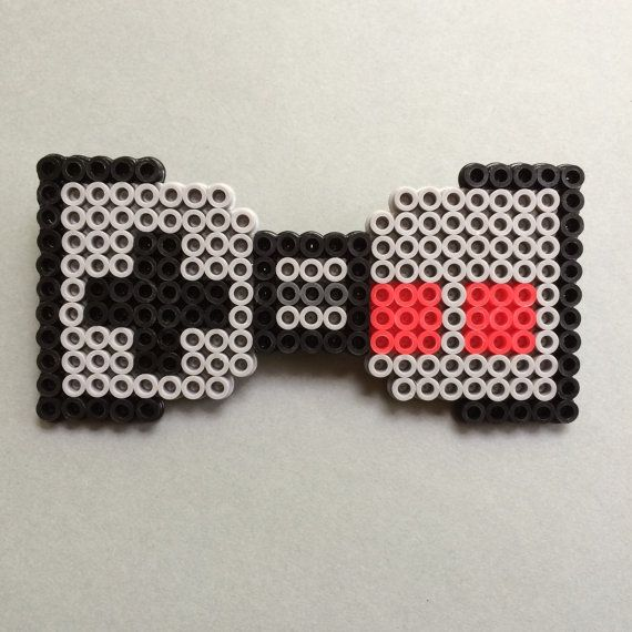 Nintendo Controller Perler Bead Bow Tie the by PerlerTricks