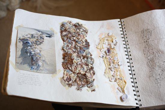 Fashion Sketchbook - textile experimentation with fabric manipulation samples; fashion design process; fashion portfolio // Amy Mair Couture