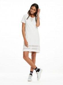 Scotch&Soda bílé sportovní děrované šaty - 2420 Kč
