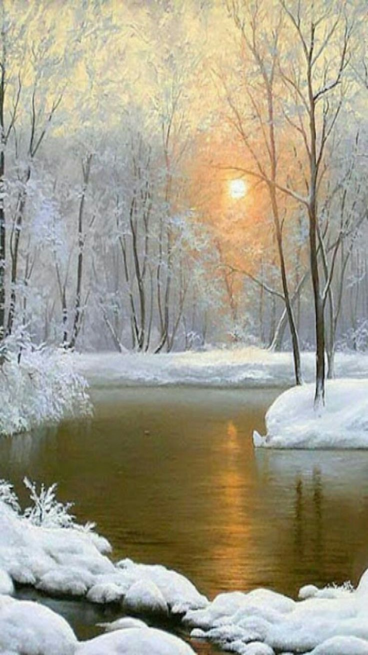 Winter Wonderland - Golden sunrise.