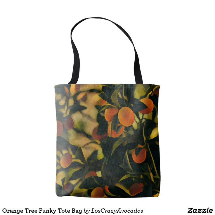 Orange Tree Funky Tote Bag