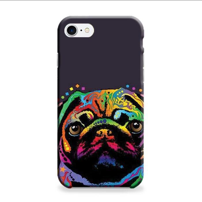 Pug Pop Art 2 iPhone 7 3D Case
