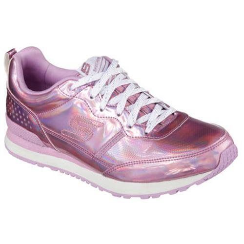 Ladies Skechers Pink lace up trainers available in sizes 4 - 7 on our website http://www.shoestationdirect.co.uk/skechers-retrospect-mens-patent-lace-up-casual-trainers-shoes/