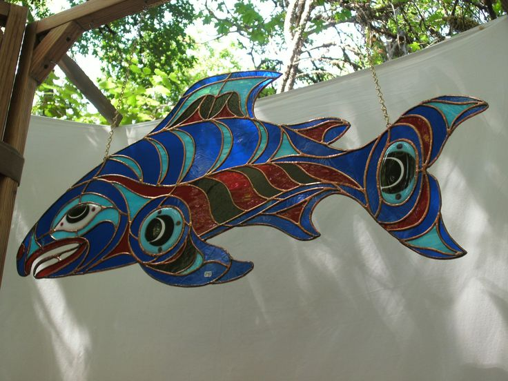 REALLY want to make this Stained Glass Salmon!