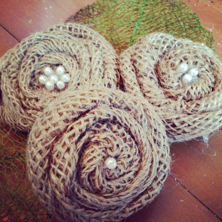 48 best hessian burlap art images on pinterest burlap for How to make hessian flowers