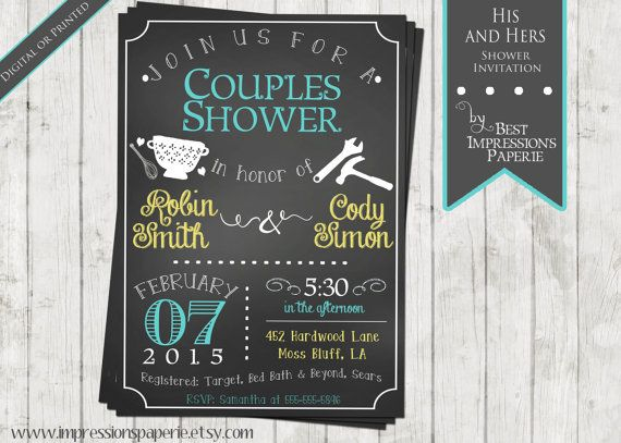 The 25 best Couples shower invitations ideas – Wedding Couple Shower Invitations