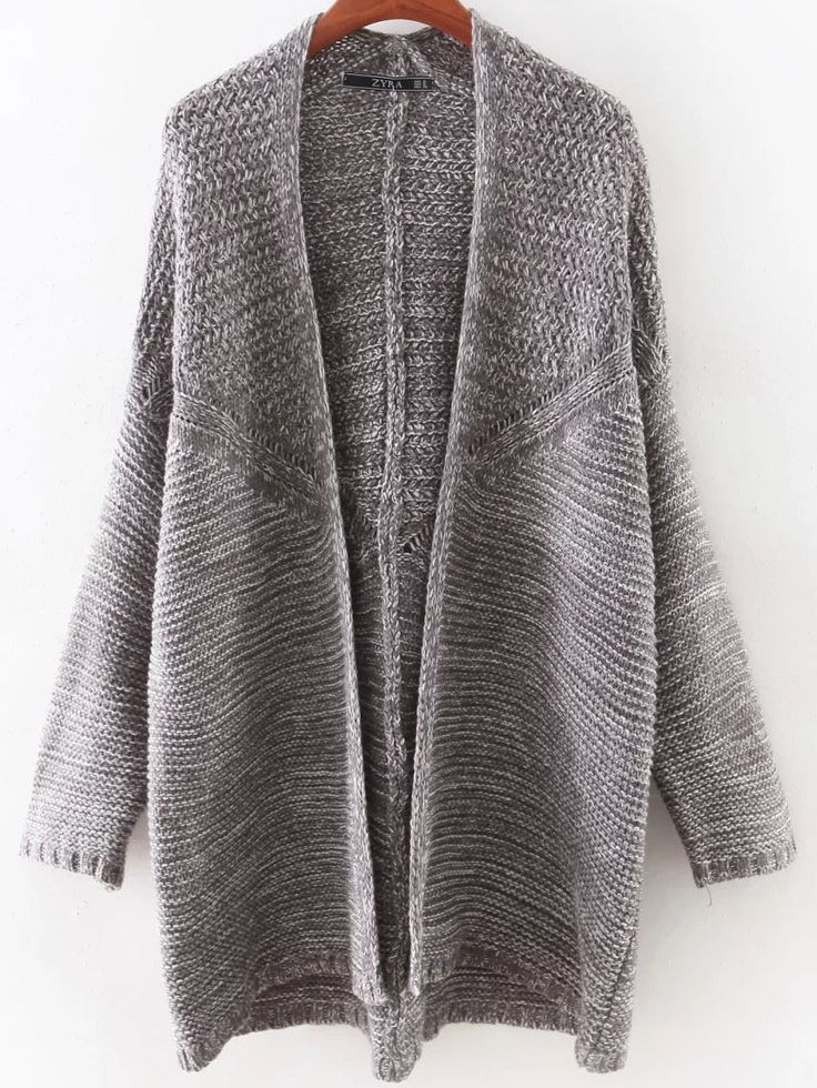 Shop GreyBatSleeveLongCardigan online. SheIn offers GreyBatSleeveLongCardigan & more to fit your…