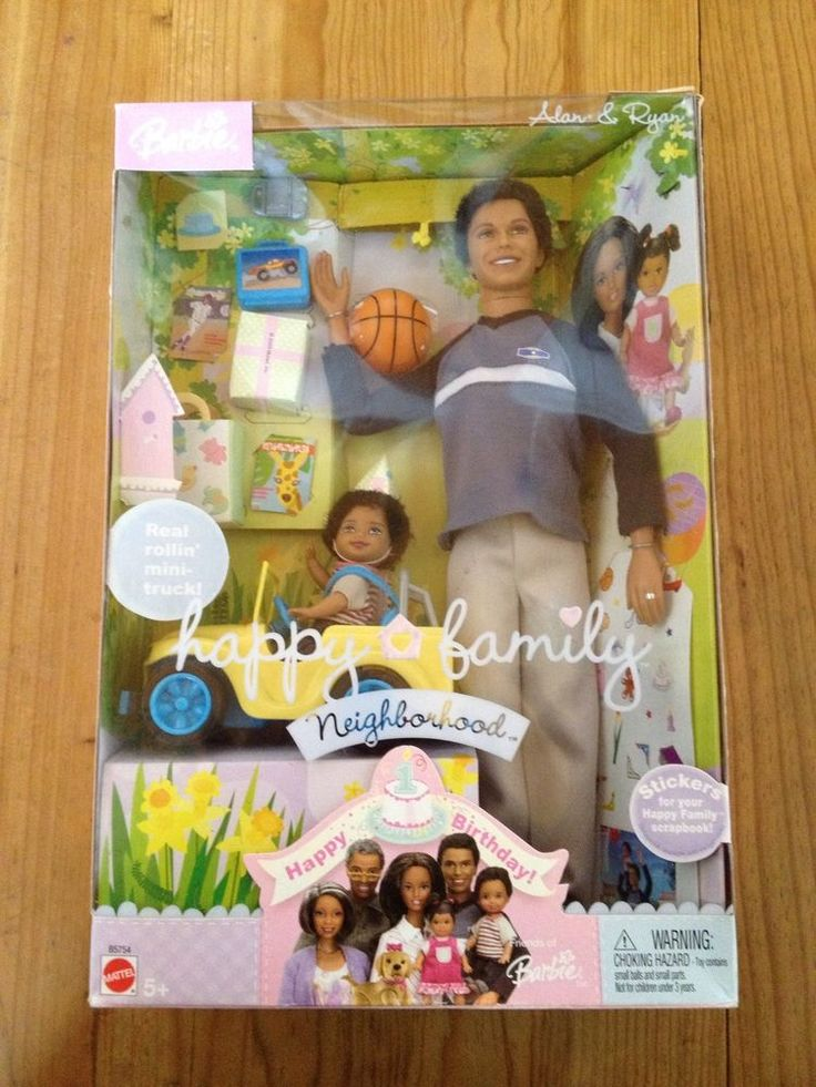 NIB Happy Family Alan Ryan Happy Birthday AA African American Dad Son NEW Barbie #Dolls