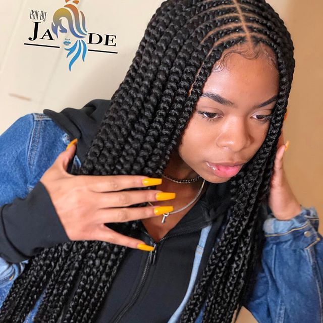 Image Result For 2 Layers Feed In Braids Braided