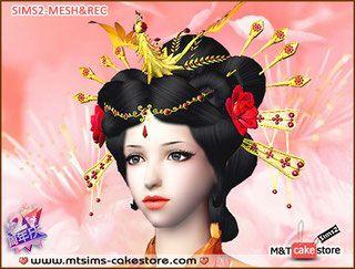 女发1 - M&T 模拟人生单纯蛋糕店(M&T SimsCakeStore)