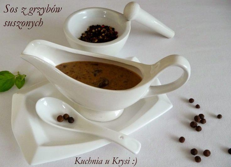 Kuchnia u Krysi : Sos z suszonych grzybów