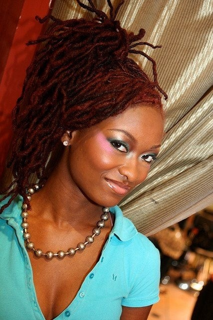 dreadlock styles for black hair locs up do i m loving the color sassy 6645