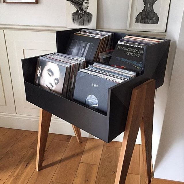 47 best vinyl record furniture images on pinterest lp storage media storage and storage ideas. Black Bedroom Furniture Sets. Home Design Ideas