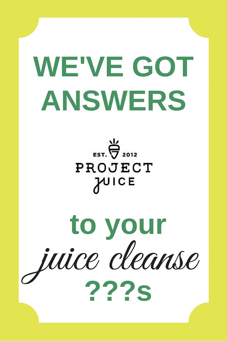 Click through to our FAQ page to have all your juice-cleanse questions answered!