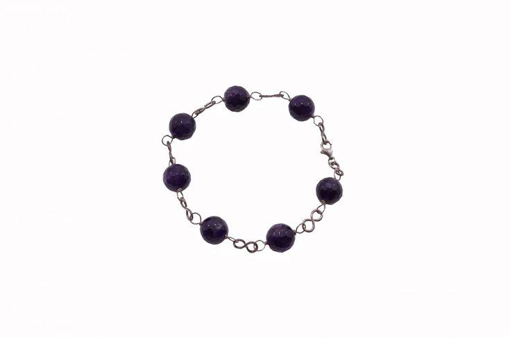 Βραχιόλι με αμέθυστο - Bracelet with amethyst