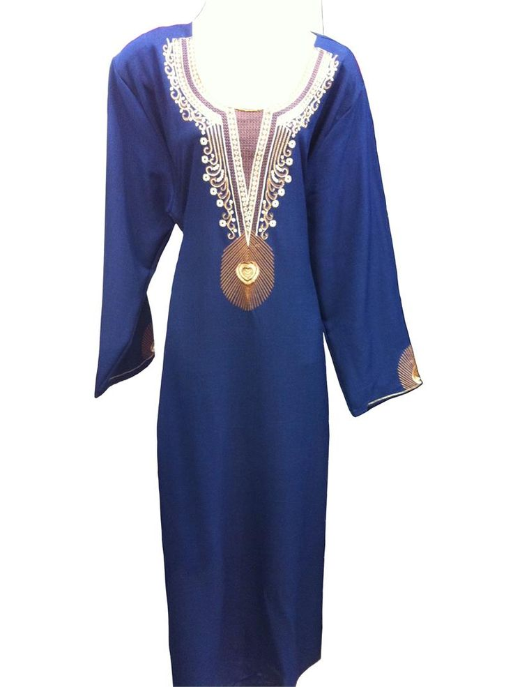 This is a gorgeous polyester thobe. Artistically embroidered on the front and sleeves, this dress is available in many colors and sizes. It is a comfortable outfit in all seasons and is suitable for any occasion.