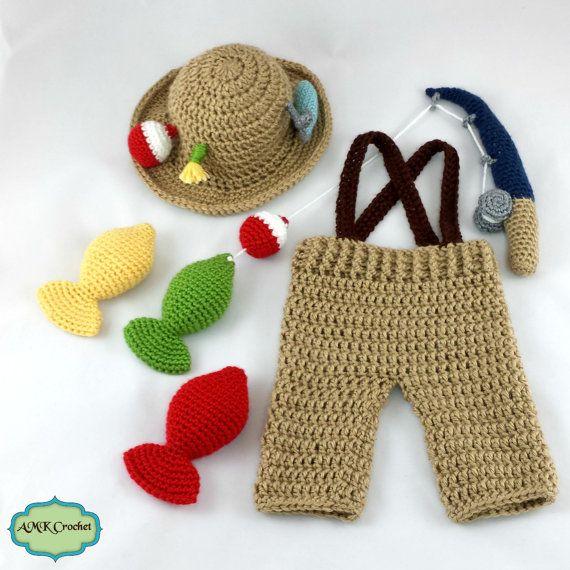 CROCHET PATTERN Crochet Newborn Fisherman Hat and by AMKCrochet