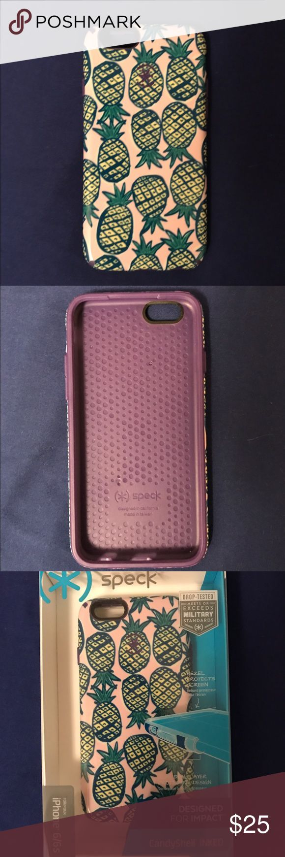 Speck iPhone 6/6s CandyShell Inked Case Brand new, never used, has impact protection with a fun pineapple design Accessories Phone Cases