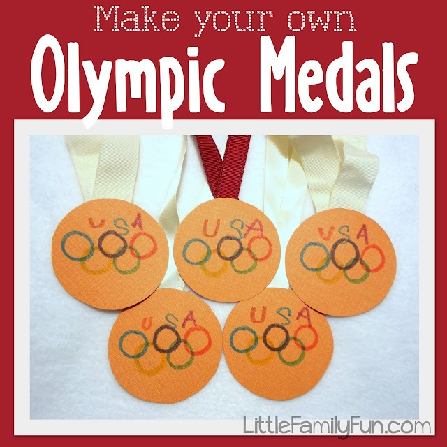 Make your own Medals for the Olympics.