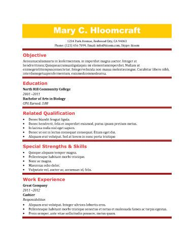 91 best RESUME images on Pinterest Resume, Activities and Cocktails - fast food resume