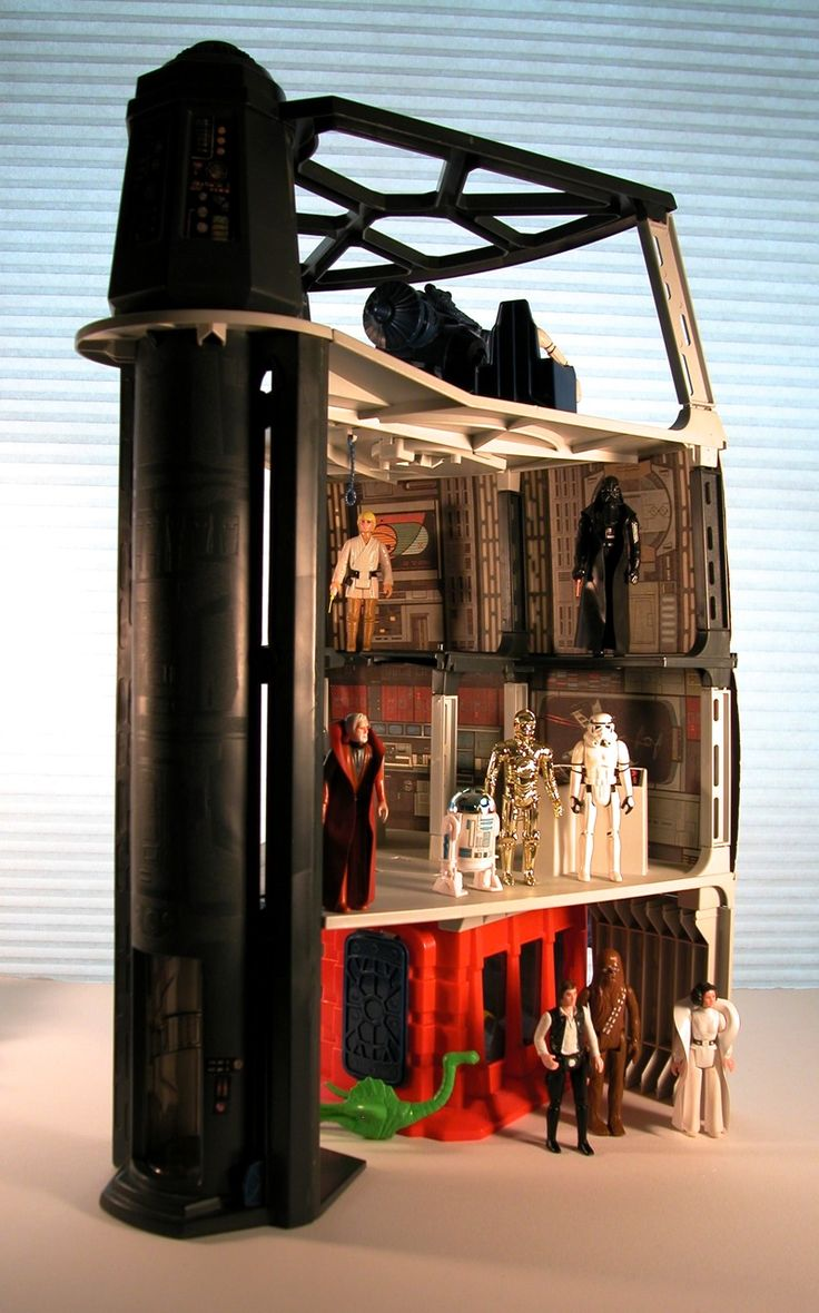 Vintage 1978 Star Wars Death Star Space Station - (side) Still got Mine.....Don't know how I pulled off getting mom to get this for me....