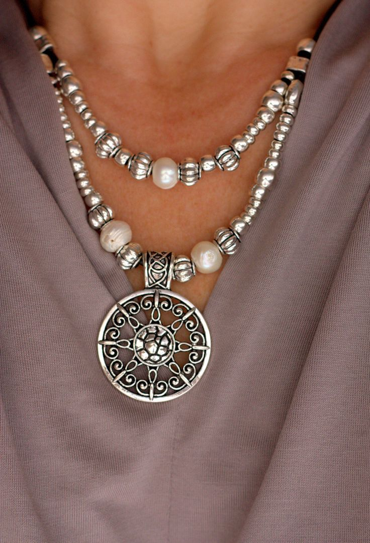 Excited to share the latest addition to my #etsy shop: Pearls Jewelry, Silver Ne