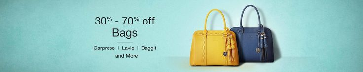 Amazon.in has a great offer for all the women out there, where she gets 30 to 70% off on women's hand bags. You can pick from various brands such as Caprese, Lavie, Baggit and many more.So without delaying anymore, just hurry and grab your handbags form Amazon.in, right now. Store Name:Amazon.in Deal:Up to 70% off ...
