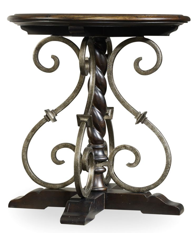 Treviso Round Nightstand in Black | Hooker Furniture | Home Gallery Stores