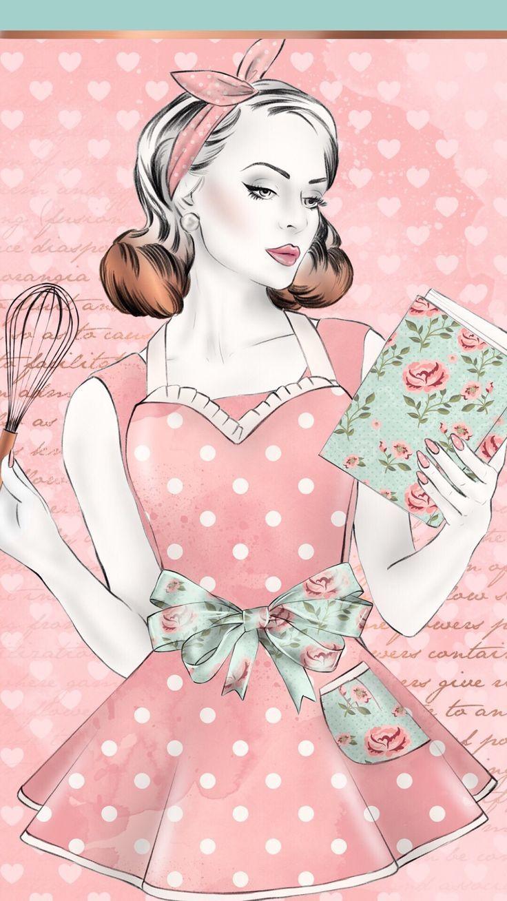 Pretty Aprons - #Aprons #ilustration #Pretty | Imagens vintage ...