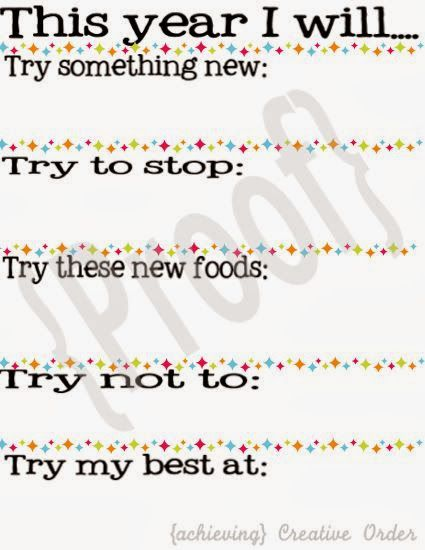 New Year's Resolutions {for kids} Printable