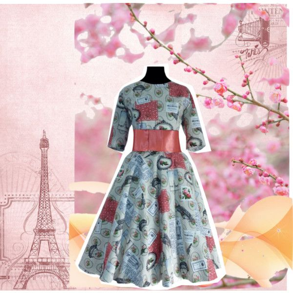 Vestido estilo vintage by petits-rois on Polyvore featuring moda and vintage