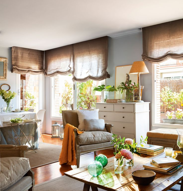 Las 25 mejores ideas sobre cortinas rusticas en pinterest - Estor con cortina ...